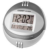 Часы электронные настенные Kadio KD-3806N, 2*АА