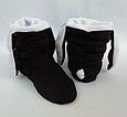 Тапочки Зайчики черные с белыми ушами, фото 4