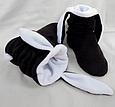 Тапочки Зайчики черные с белыми ушами, фото 5