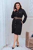 Большое платье-рубашка черное
