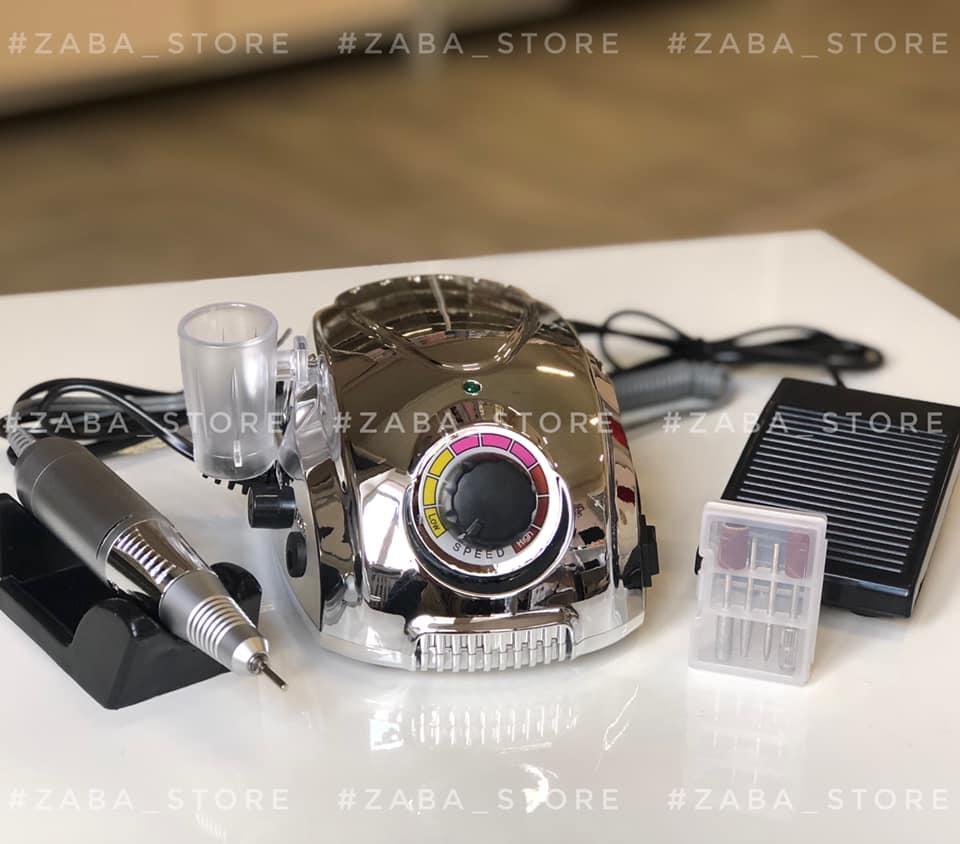 Фрезер Li-220 на 65 Вт и 35 000 об/мин для маникюра и педикюра, зеркально серебристый