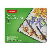 """Набір для малювання Derwent """"Color Collection"""" 24 пр (кол. олівці, граф.олівці) в метал кор."""