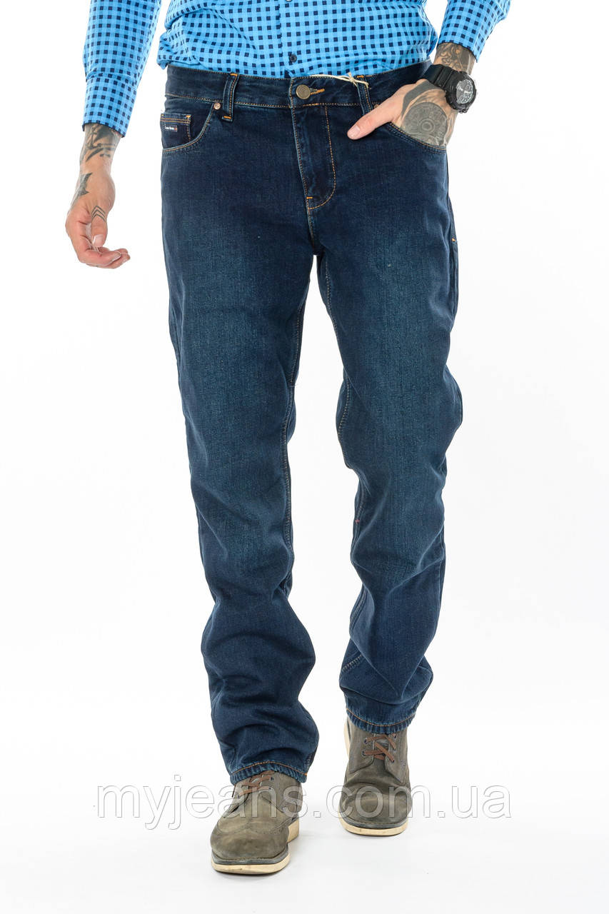 Мужские джинсы утепленные Franco Benussi 20-102 TORINO темно-синие