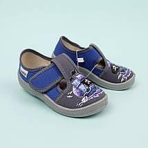 Детские текстильные туфли тапочки Гриша серые Кораблик размер 25 тм Waldi, фото 3