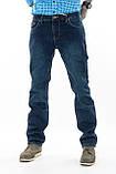 Мужские джинсы утепленные Franco Benussi 20-102 TORINO темно-синие, фото 3