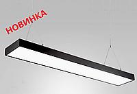 LED светильник подвесной на тросах 48W 1200 мм (черный)