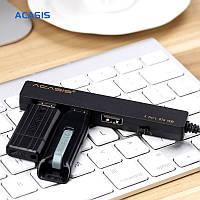 OTG USB хаб с одновременной зарядкой 3 USB