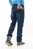 Мужские джинсы утепленные Franco Benussi 20-102 TORINO темно-синие, фото 8