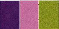 Набор  фетр листовой_сиреневый, зеленый 2,0 мм
