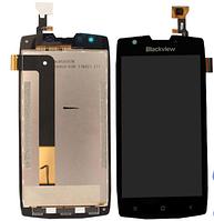 Blackview BV7000 / BV7000 pro дисплей в зборі з тачскріном модуль з рамкою чорний