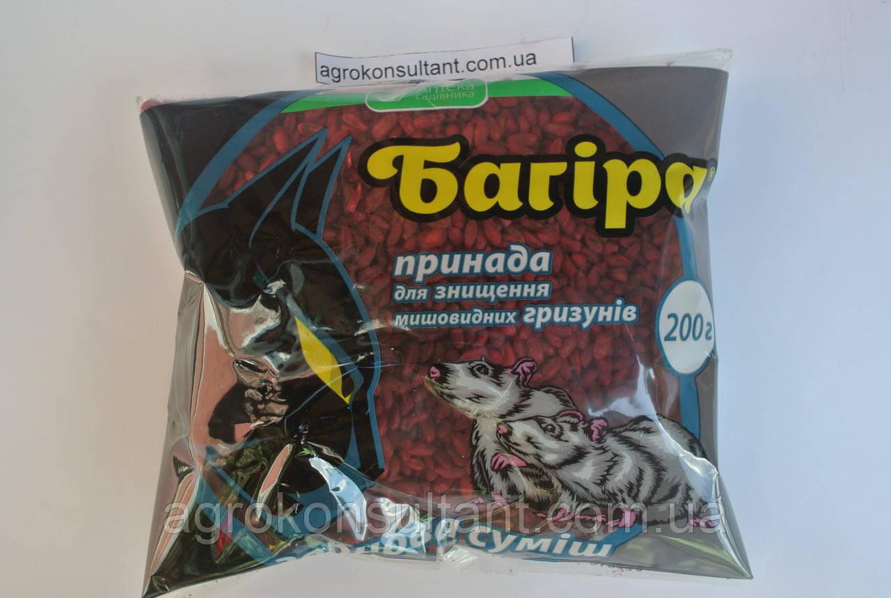 Багіра, зернова суміш, 200 г - готова приманка від мишоподібних гризунів