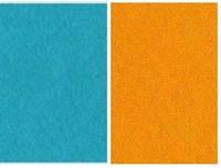 Набор фетр листовой_голубой, оранж 3,0 мм