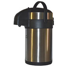 Термос с помпой Stenson из нержавеющей стали, 4 л