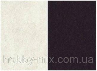 """Набор фетр листовой_черный, белый 3,0 мм - Интернет-магазин """"HobbyMIX"""" в Запорожье"""