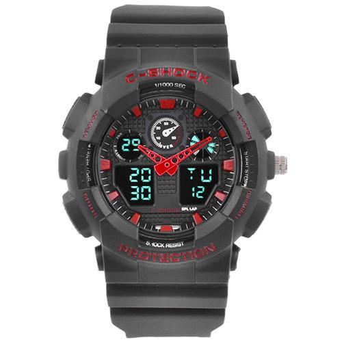 Часы наручные C-Shock GA-100 Black-Red