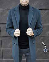ЛЮКС! Мужское зимнее пальто кашемировое до - 30*С X - anthracite