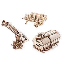 Механічний 3D-пазл UGEARS 2 в 1, UGM-11 вантажівка, доповнення, конструктор для розвитку дітей