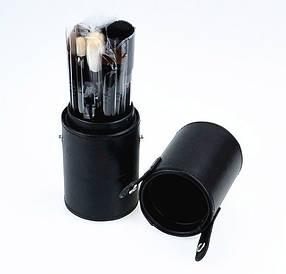 Компактний набір професійних пензлів для макіяжу MAC 12 шт в тубусі