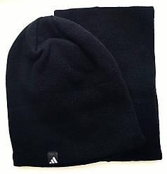 Комплект шапка и горловик черный 222-36