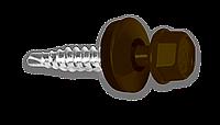 Кровельный саморез по металлу 4.8х25мм RAL 8017 (250шт)