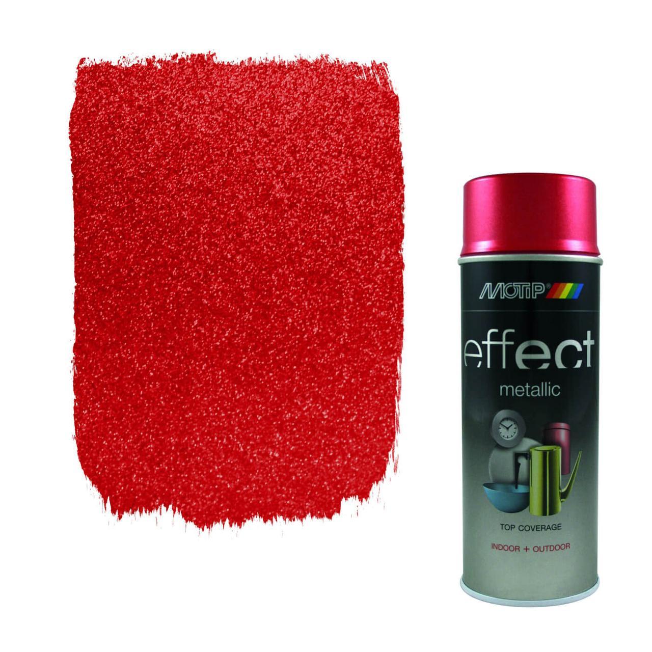 Эмаль с эффектом металлик Motip Deco Effect Metallic, 400 мл Аэрозоль Красный