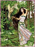 Схема для вышивания бисером Лесная фея