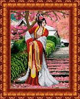 Схема для вышивания бисером Японский сад