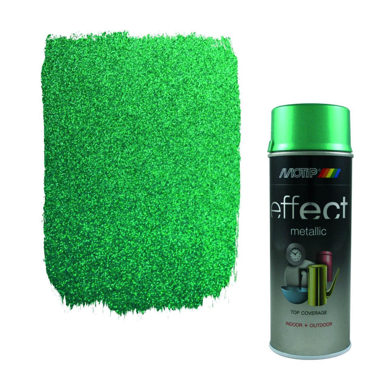 Эмаль с эффектом металлик Motip Deco Effect Metallic, 400 мл Аэрозоль Зеленый