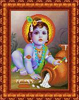 Схема для вышивания бисером Младенец Кришна
