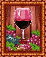 Схема для вышивания бисером Бокал вина