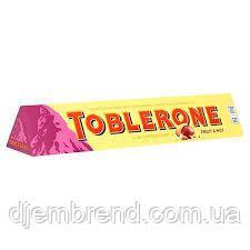 Toblerone Швейцарский молочный шоколад с изюмом и нугой Toblerone, 100 Г