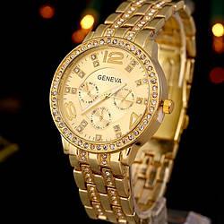 Часы Geneva (gold) - гарантия 6 месяцев