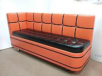 Маленький кухонный  диванчик с боковой спинкой и радиусным закруглением Edison