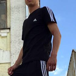 Футболка в стилі Adidas Classic чорна