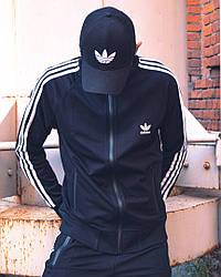 Олімпійка чоловіча в стилі Adidas Round чорна