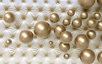 3Д Фотообои Золотые шарики  разные текстуры , индивидуальный размер