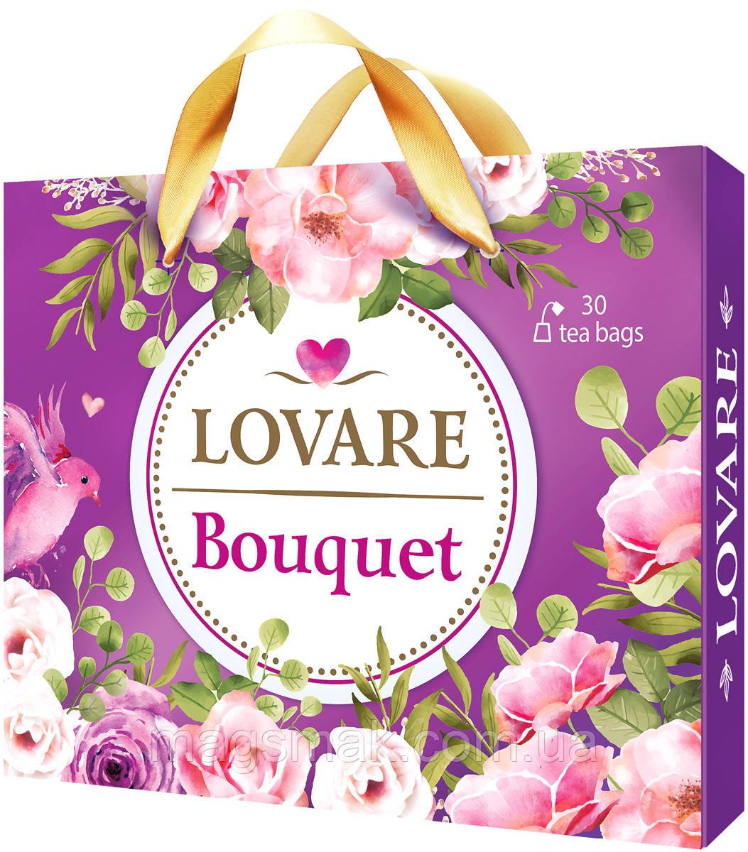 Колекція чаю Lovare Bouquet (Ловаре Букет) асорті 6 видів чаю по 5 конвертів
