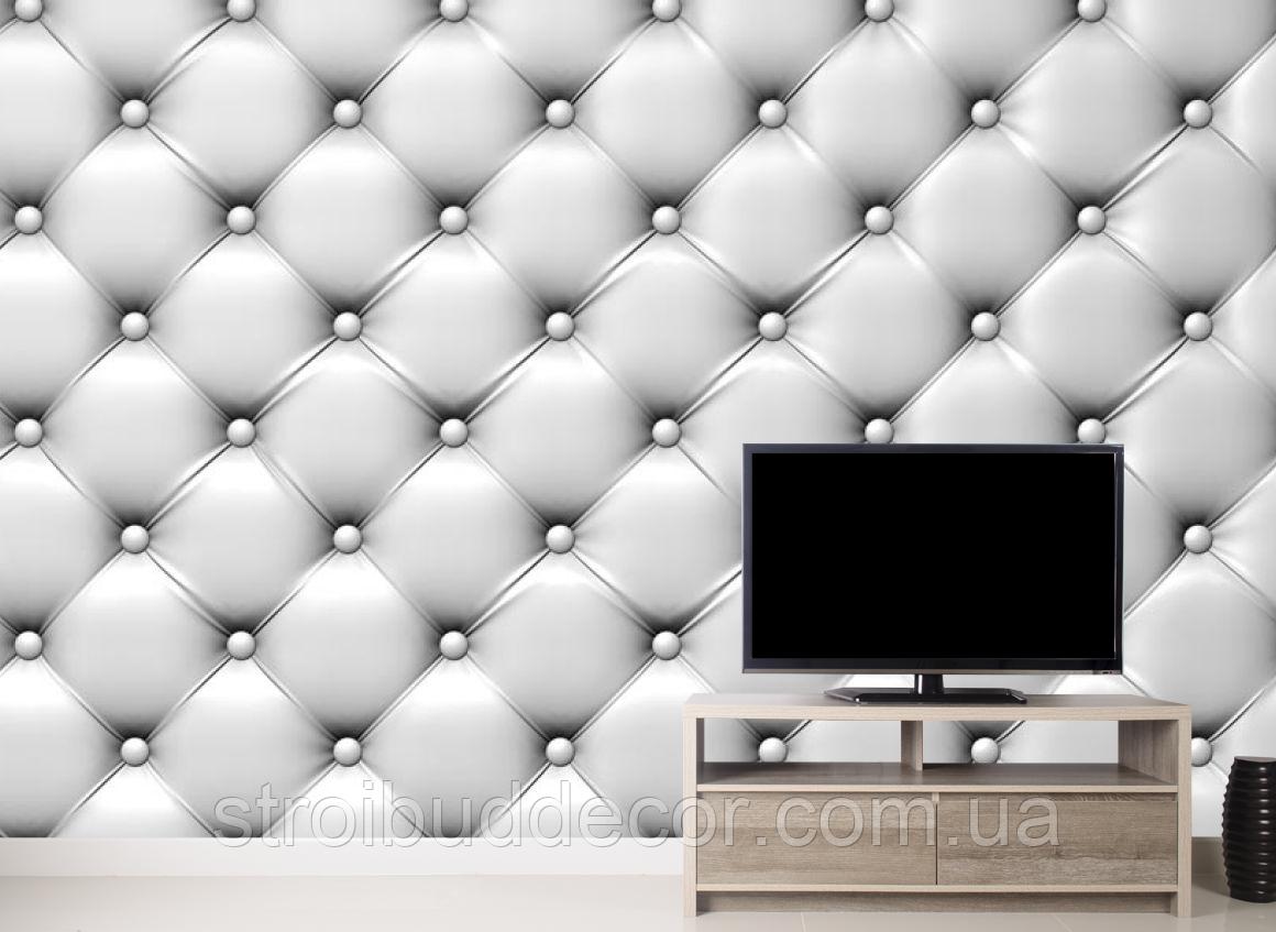 3Д Фотообои Белая драпировка стены разные текстуры , индивидуальный размер