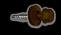 Кровельный саморез по металлу 4.8х19мм RAL 8017 (250шт)