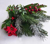 Набор для новогодней композиции (хвоя, ягоды, цветы) 9 шт.