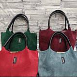 Стильная Женская сумка ZARA из натуральной замши. В расцветках., фото 2