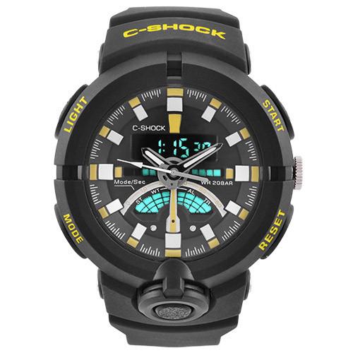 Часы наручные C-Shock GA-500 Black-Yellow