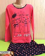 Детская трикотажная  пижама Турция для девочки от8 до 13 лет