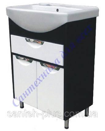 Тумба для ванной комнаты с выдвижным ящиком Принц Т6 с умывальником Изео-70, фото 2