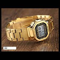 Оригинальные женские спортивные часы Skmei SINGAPORE 1433 Золотые