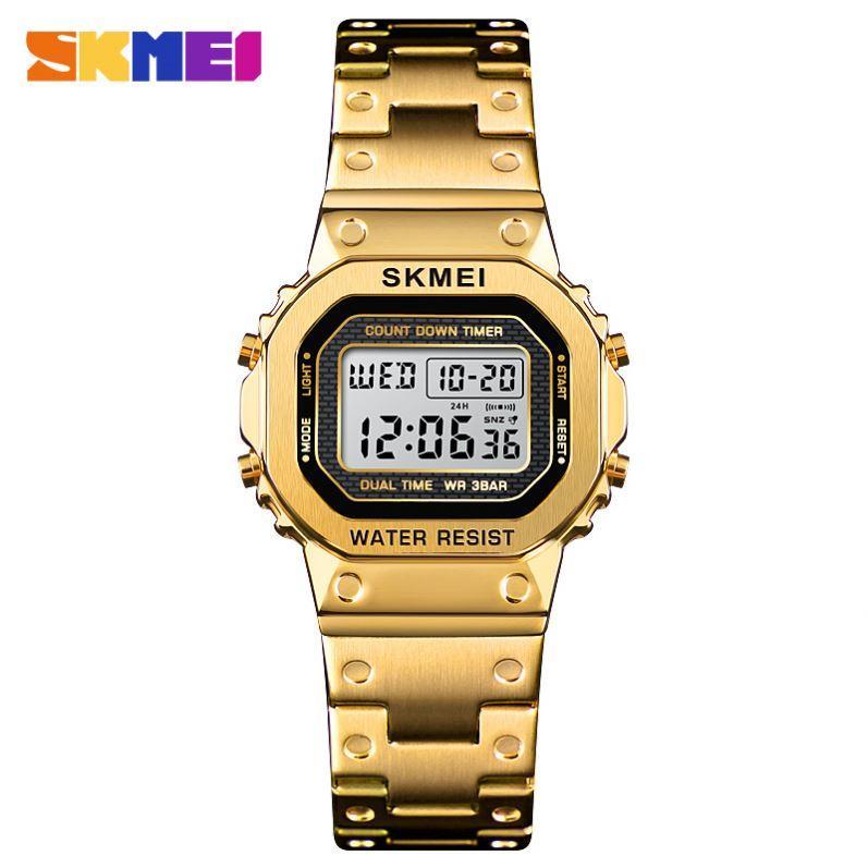 Skmei 1433 singapore  золотые женские спортивные часы