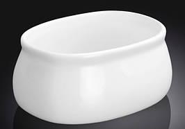 Сахарница для рафинада Wilmax фарфоровая белая 9*6,5*4,5 см
