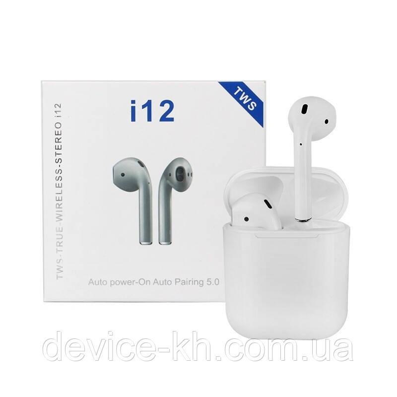 Беспроводные Наушники I12-TWS Наушники в стиле Apple Air Pods