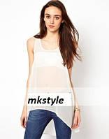 Блуза шифоновая с хвостом