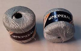 """Пряжа """"Mondial Scintilla"""",цвет - серебристый"""